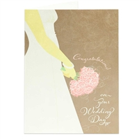 Congratulations! on your wedding day greeting card