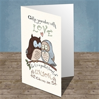 Love birds Scriptural Greeting Card