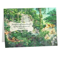 The righteous will possess the earth Scriptural Greeting Card