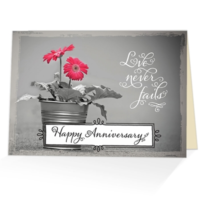 Corinthians 13 8 Anniversary Card Scriptural Anniversary