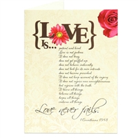 Love Is Scriptural Greeting Card