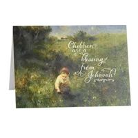 Children are a blessing Scriptural Greeting Card