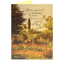 The one who constructed all things Scriptural Greeting Card