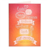 Fruitage of the spirit Scriptural Greeting Card
