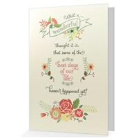 Best days Greeting card
